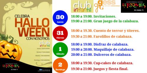 Invitación 2 - Halloween Club Infantil